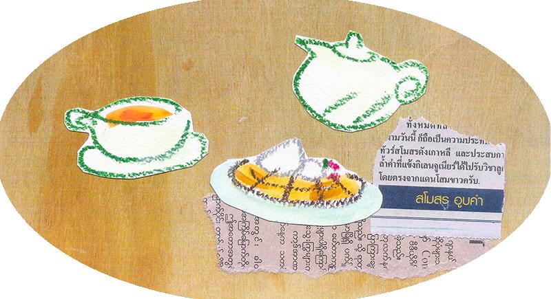 mimiLotusの紅茶とワッフル